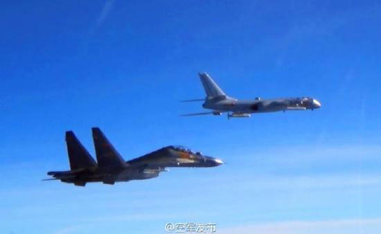 Chinese military aircraft in West Pacific for combat simulation