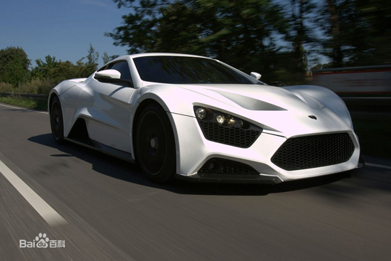 Zenvo ST1, one of the 'top 10 fastest cars in the world' by China.org.cn.