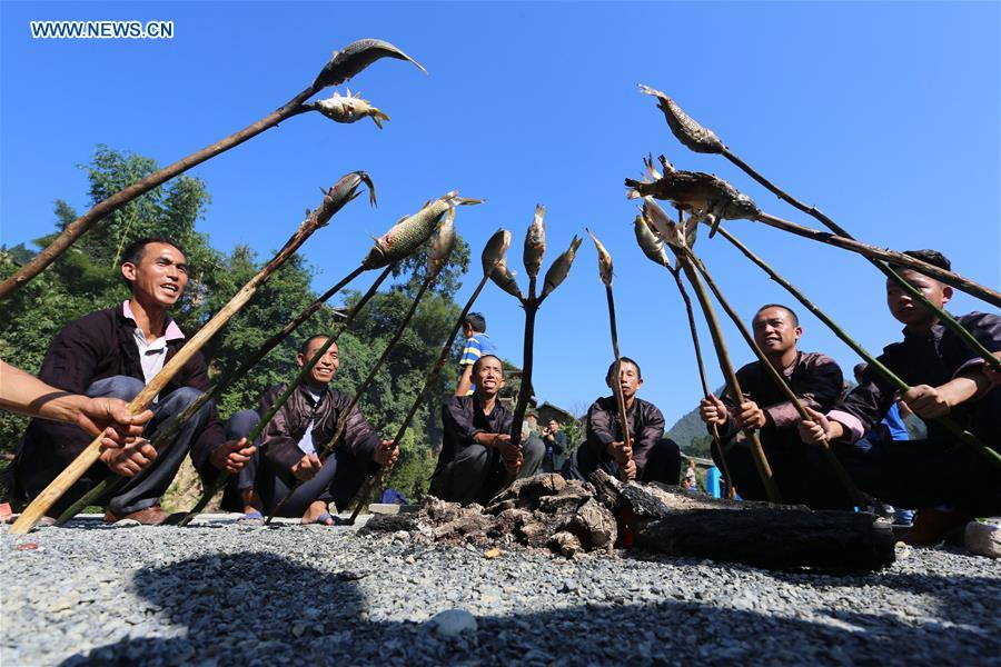 #CHINA-GUIZHOU-RONGJIANG-FISHING COOKING-FOLK FESTIVAL (CN)