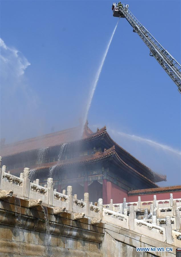 CHINA-BEIJING-FORBIDDEN CITY-FIRE DRILL (CN)