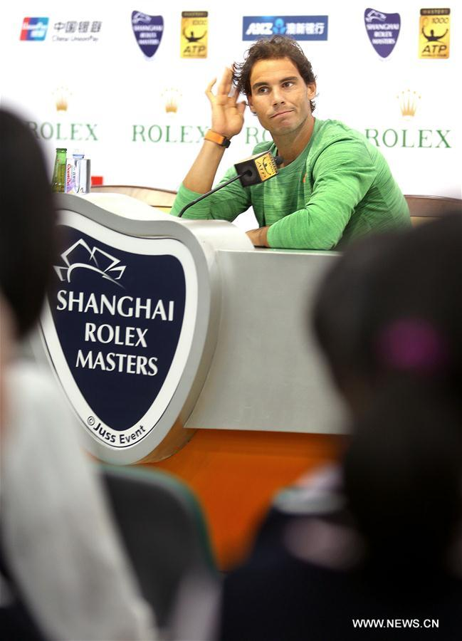 (SP)CHINA-SHANGHAI-TENNIS-SHANGHAI MASTERS-NADAL-PRESS CONFERENCE