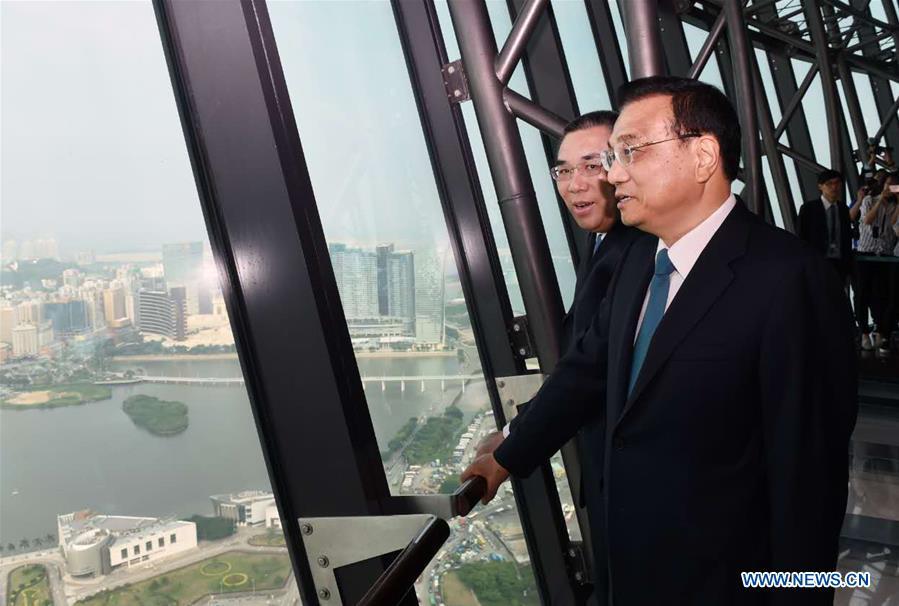 CHINA-MACAO-LI KEQIANG-SAR GOVERMENT-HEADQUARTERS-VISIT (CN)