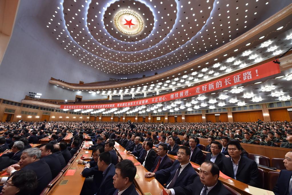 纪念中国红军长征胜利80周年大会举行。记者 翁奇羽摄