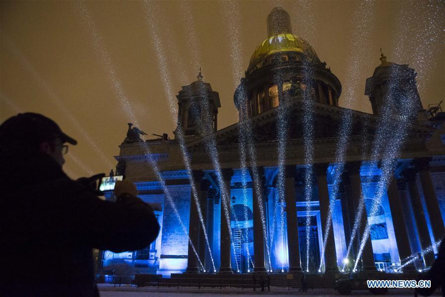 RUSSIA-ST. PETERSBURG-LIGHT FESTIVAL