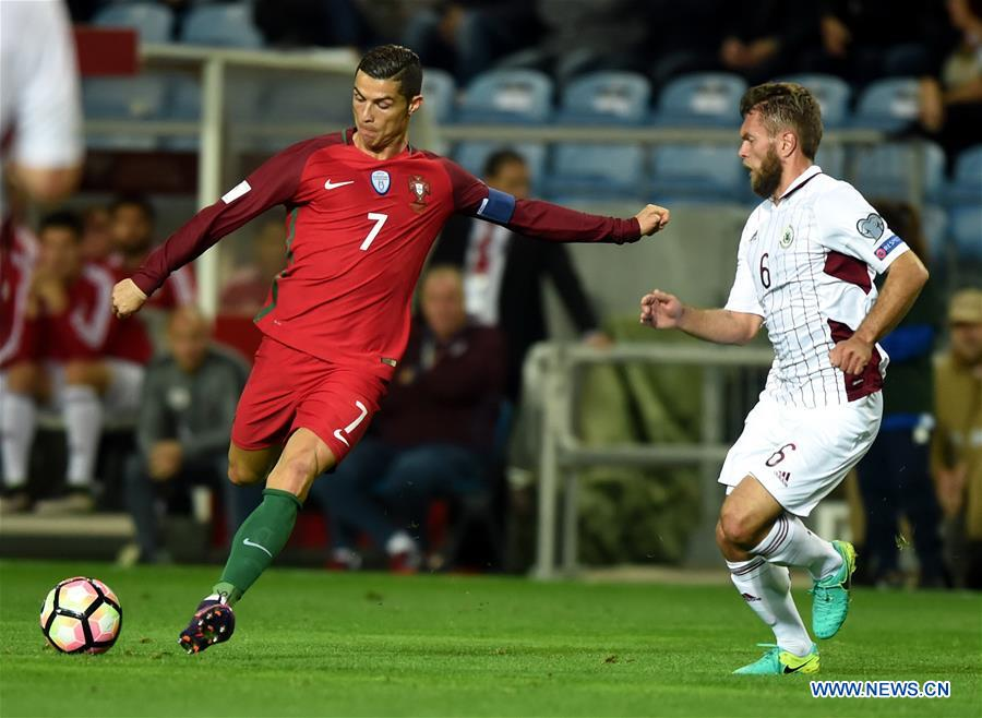 (SP)PORTUGAL-FARO-SOCCER-2018 FIFA WORLD CUP-GROUP B-PORTUGAL VS LATVIA