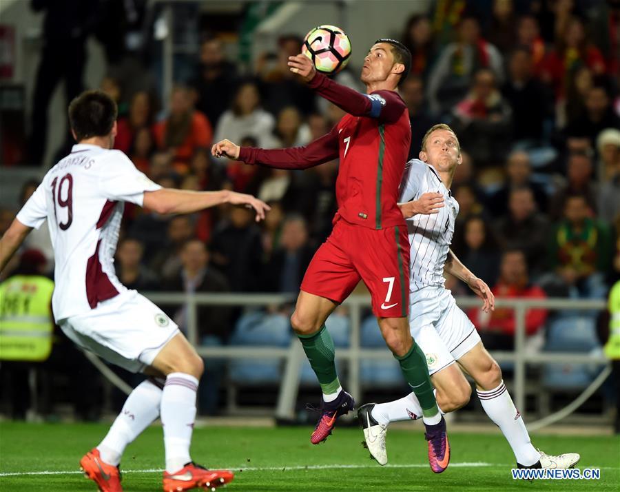 (SP)PORTUGAL-FARO-SOCCER-2018 FIFA WORLD CUP-GROUP B-PORTUGAL VS LATVIA