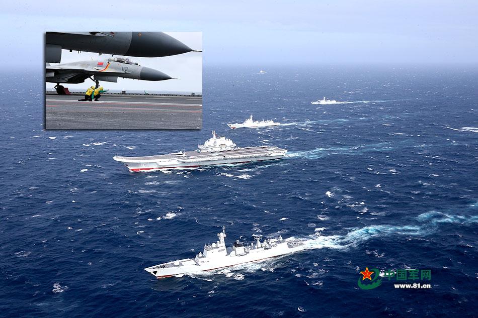 """中国南海上空首次迎来""""飞鲨""""身影"""