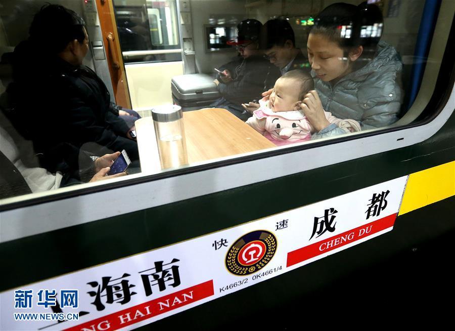 上海2017年春运首趟增开列车今日始发