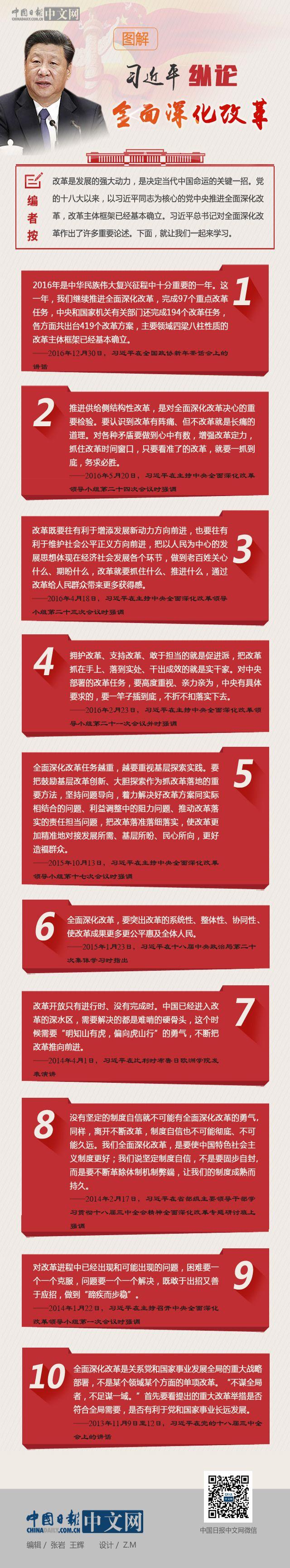 图解:习近平纵论全面深化改革
