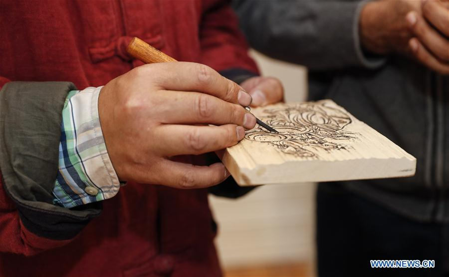 BRITAIN-LONDON-CHINESE WOODBLOCK PRINTING-EXHIBITION-SHORT COURSE