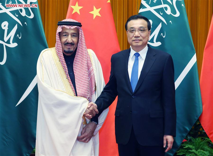 Chinese premier meets with Saudi king in Beijing