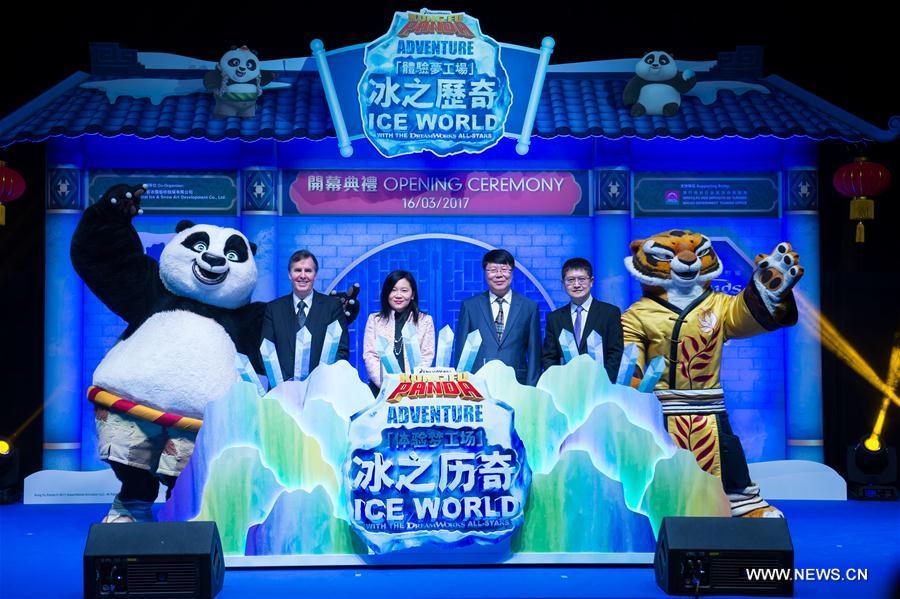 Macao opens indoor ice sculpture exhibition for summer fun