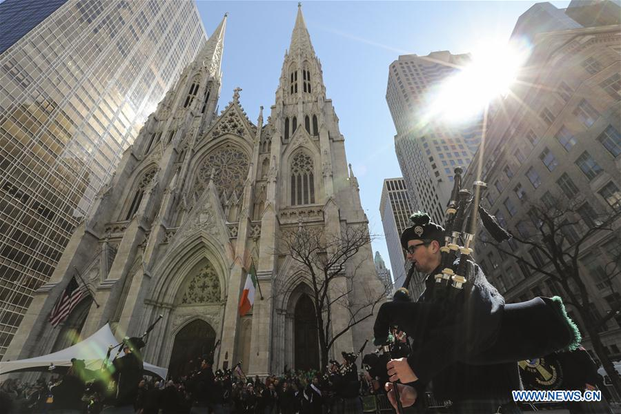 People march during St. Patrick's Day Parade in New York