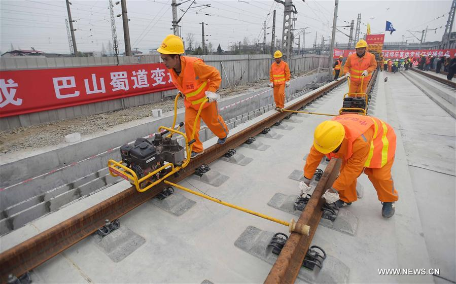 Xi'an-Chengdu Passenger Railway constructed in SW China