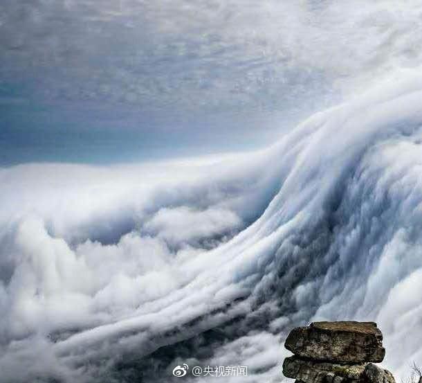 壮观!庐山现瀑布云 流转山涧【6】