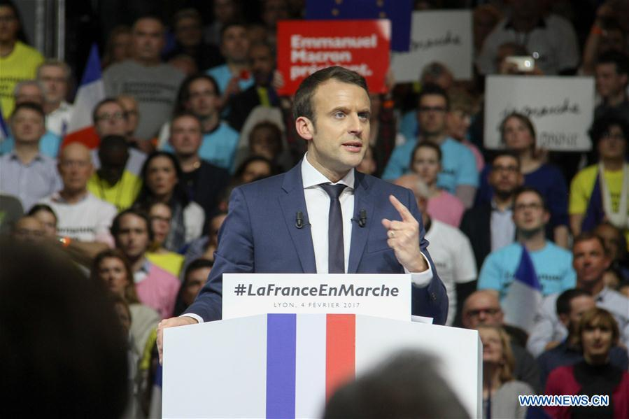 FRANCE-LYON-PRESIDENTIAL ELECTION-FIRST ROUND-MACRON