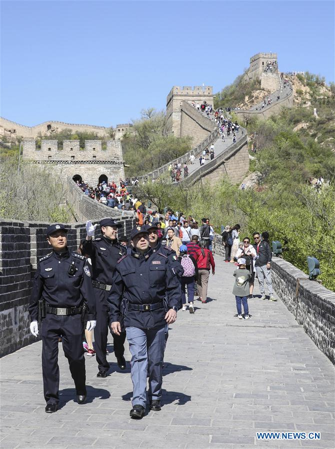 CHINA-BEIJING-ITALY-GREAT WALL-JOINT PATROL (CN)