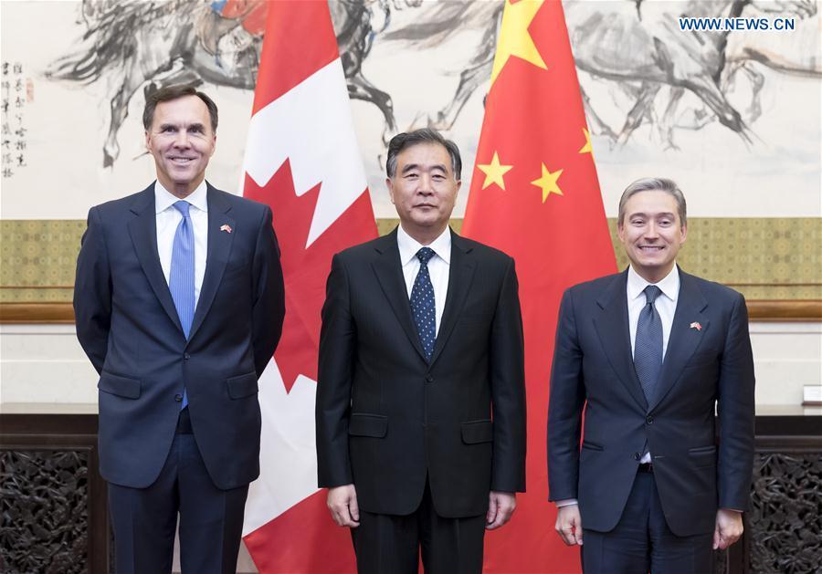 CHINA-BEIJING-WANG YANG-CANADA-ECONOMIC AND FINANCIAL DIALOGUE (CN)