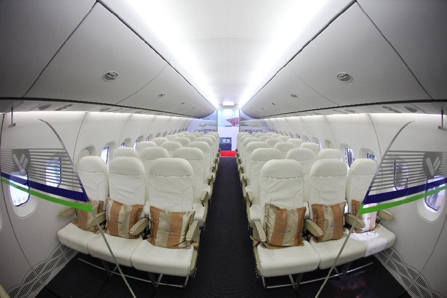 图为机舱内部。新华网发