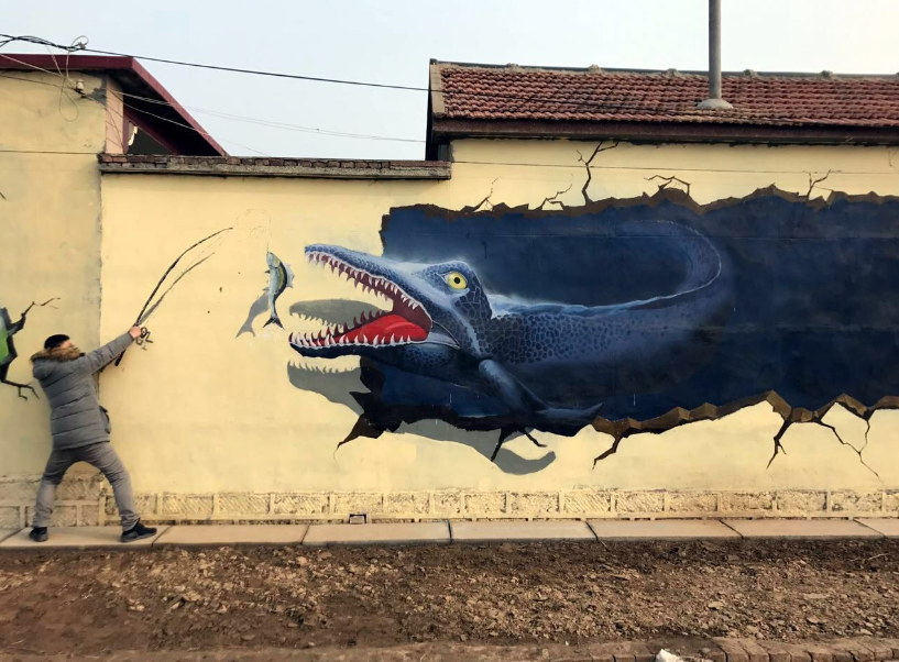 3D murals helping village eliminate poverty
