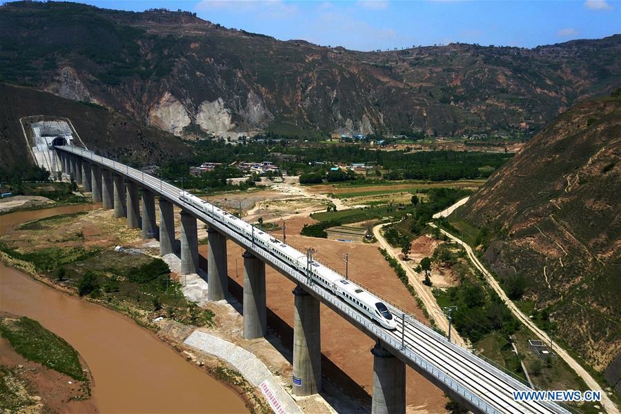 CHINA-GANSU-HIGH-SPEED RAILWAY-TRIAL OPERATION (CN)