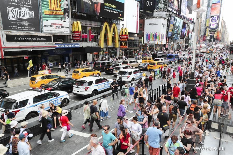 U.S.-NEW YORK-TIMES SQUARE-SECURITY