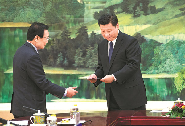 Xi says ties with ROK can be reset