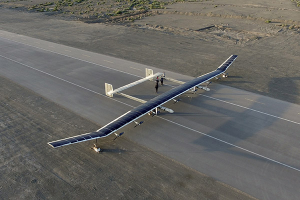 Solar-powered craft can drone on for months, reaches new high