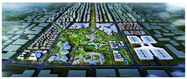 哈南国际开发开放总部基地效果图