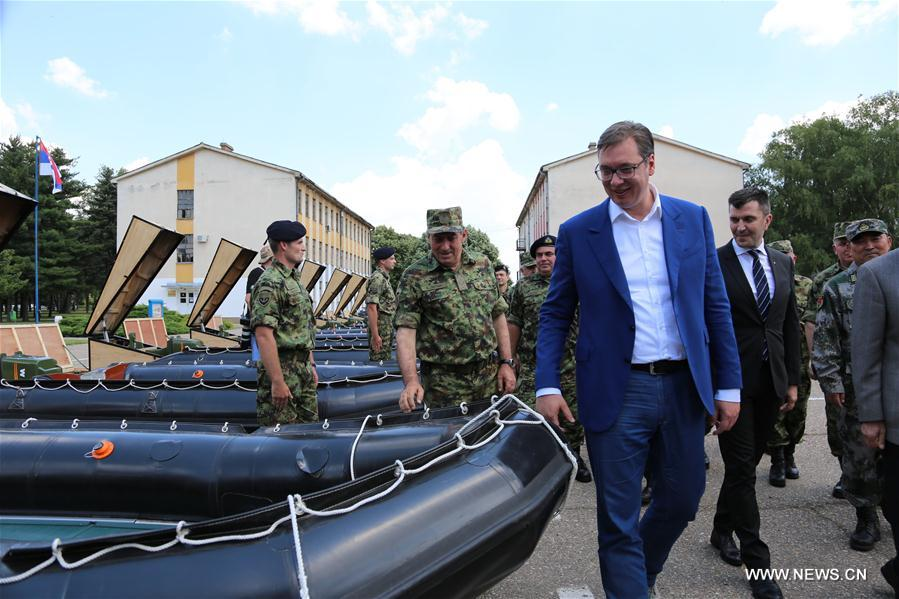 China donates military equipment to Serbia