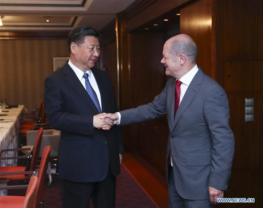 Xi says China welcomes Hamburg to participate in B&R Initiative