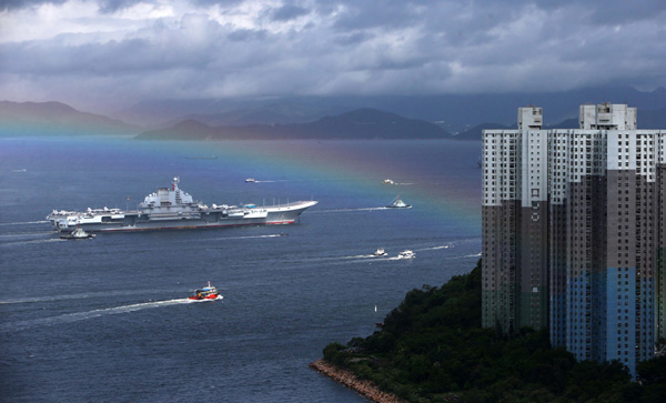 Hong Kong welcomes the pride of the Navy