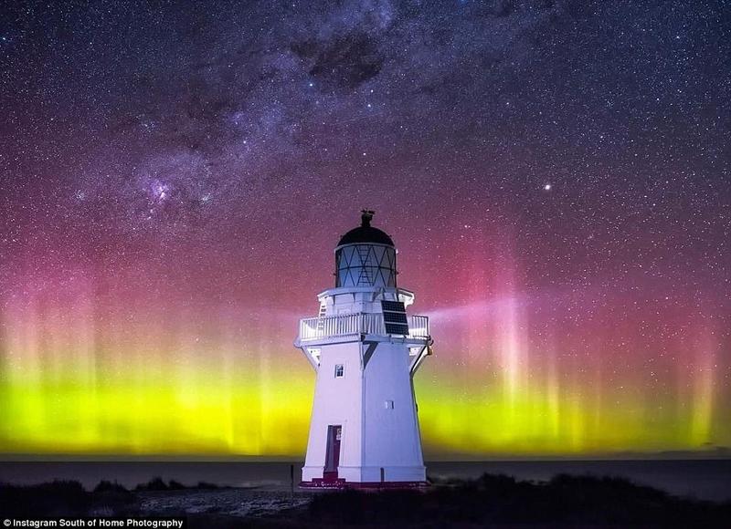 新西兰夜空美景色彩斑斓