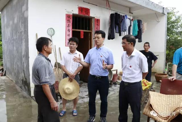 黄卫平到庆丰镇检查救灾和防疫工作