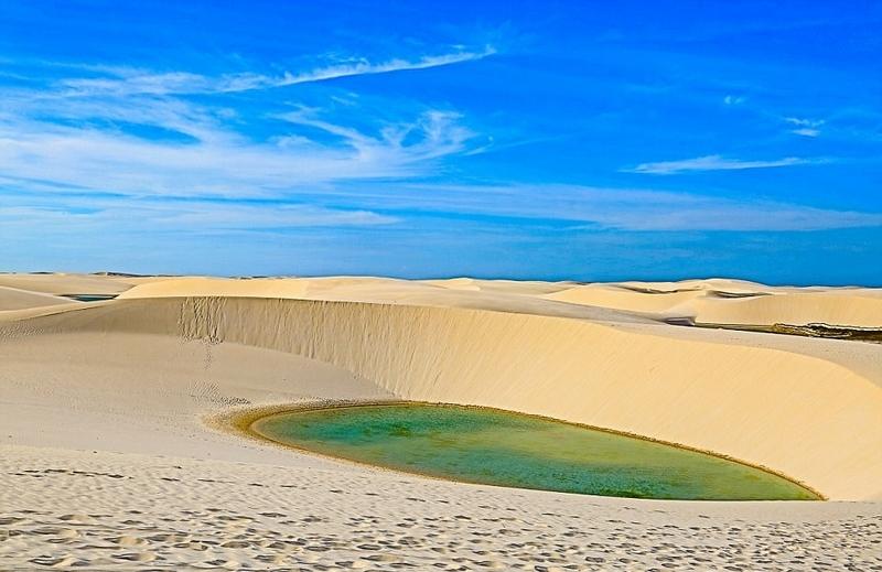 巴西神奇公园:雨季成湖 旱季复归沙漠 【3】