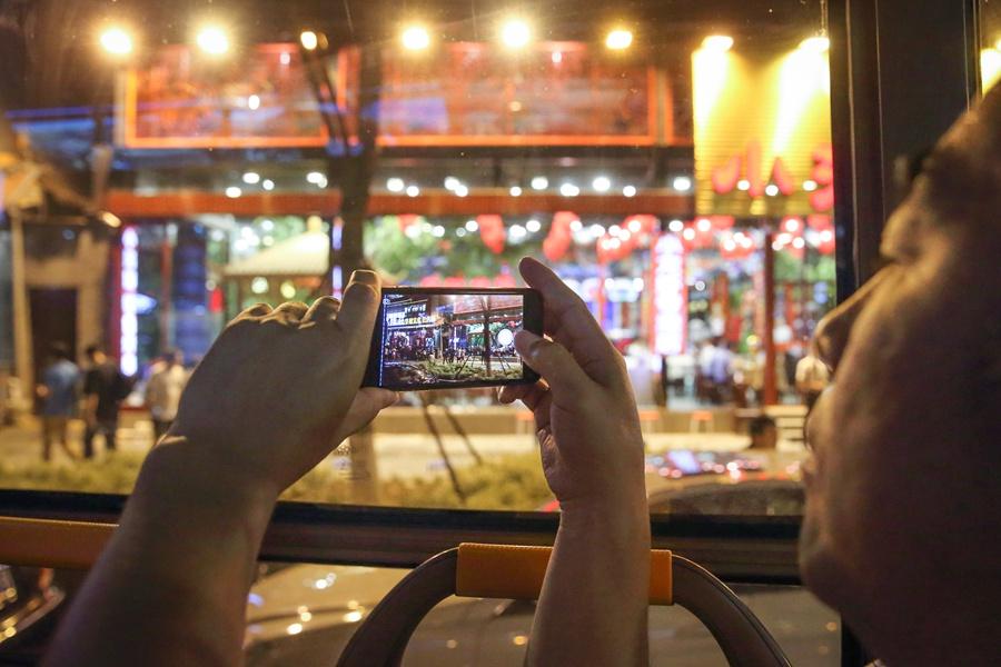 Night riders in Beijing
