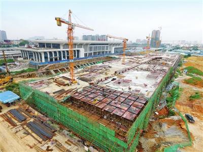 贵港高铁站前广场项目完成投资1.3亿元