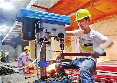 贵港市人防工程地下商业街预计今年10月竣工