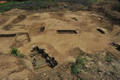 成都青羊大道旁出土75座古墓 年代从战国到唐宋高清图片