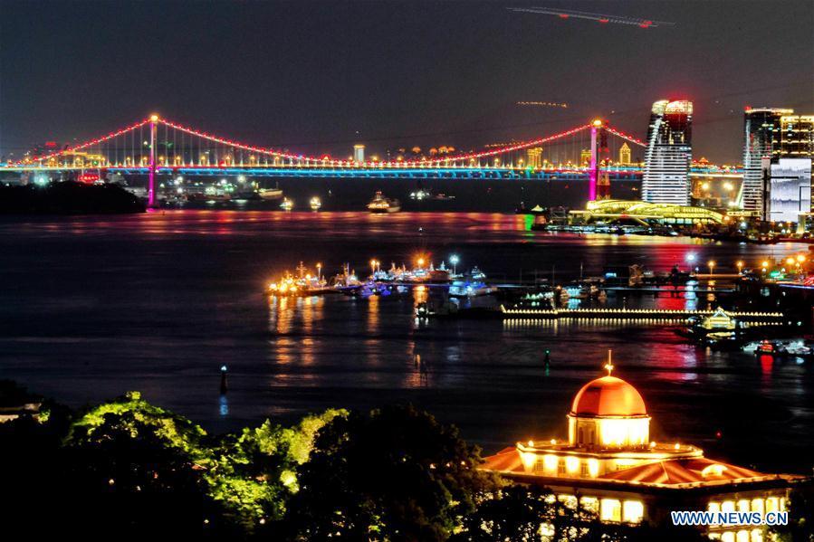 Night view of 9th BRICS summit host city Xiamen