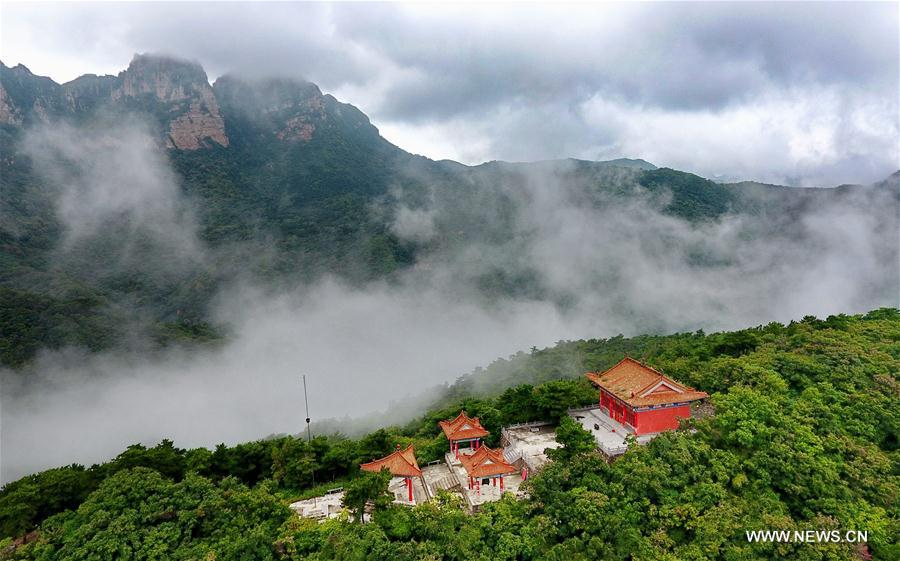 Scenery of Wulaofeng scenic spot in Yuncheng, China's Shanxi