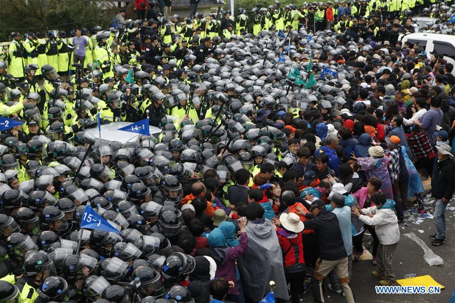 Spotlight: Anti-THAAD S.Koreans vow to fight for removal outside Blue House