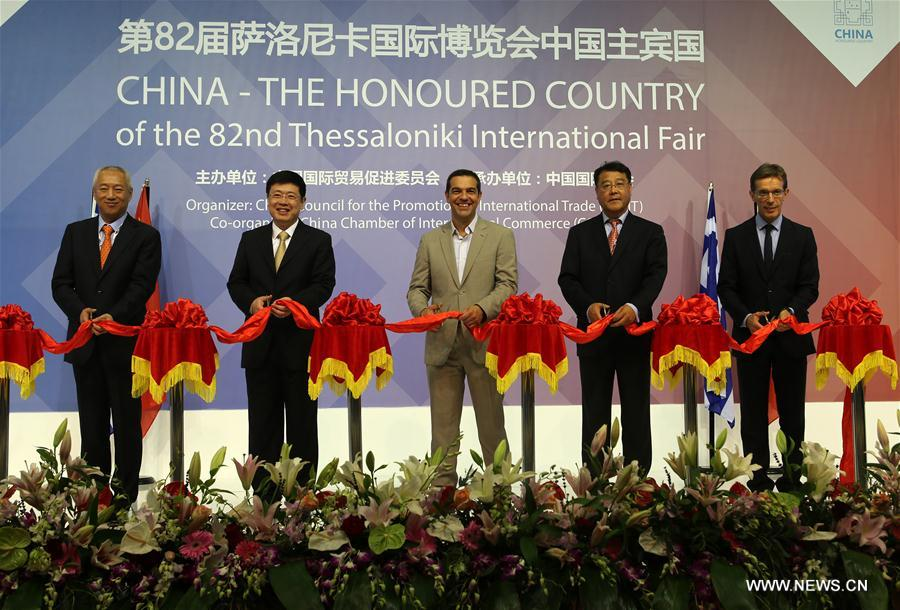 Greek PM hails Sino-Greek cooperation during opening of China's pavilion at annaul trade fair