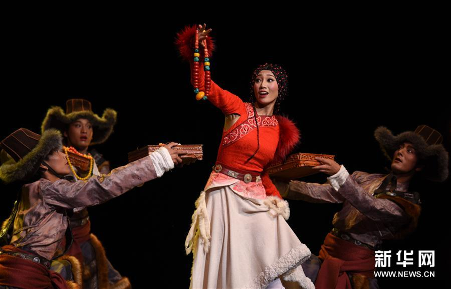 青海大型原创民族舞剧《唐卡》进行首演