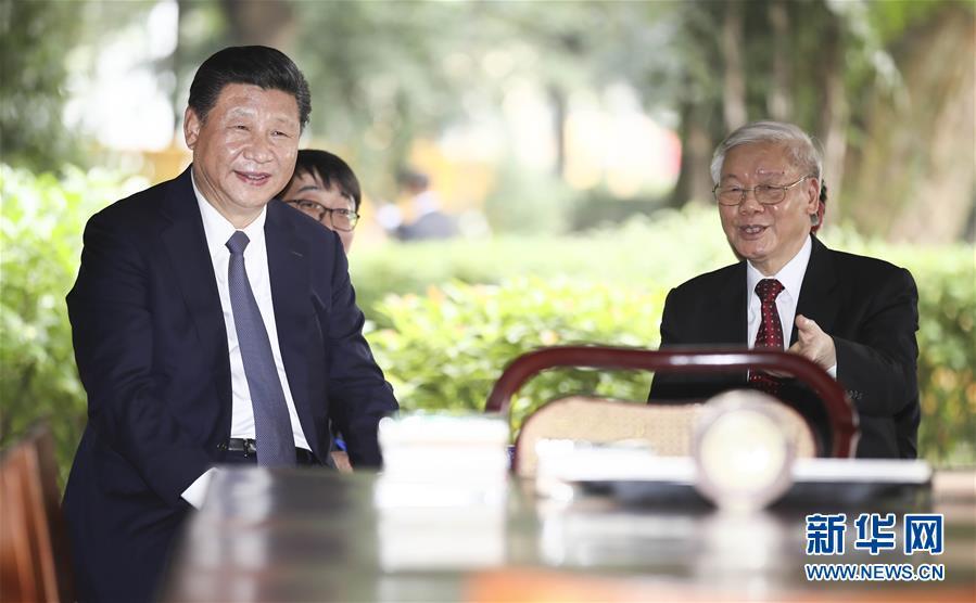(时政)习近平再次会见越共中央总书记阮富仲