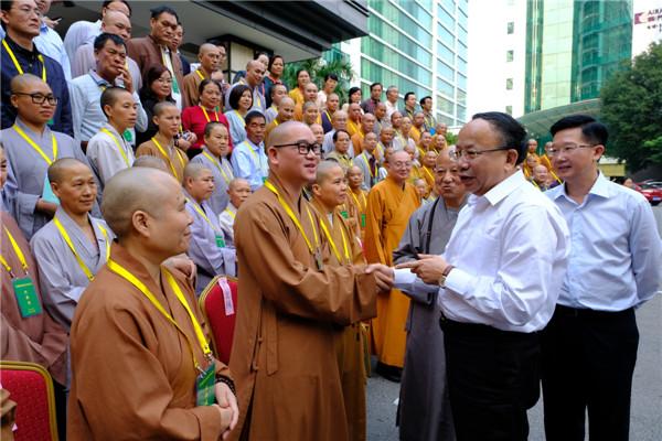 赵德明会见广西佛教协会第五次代表会议代表