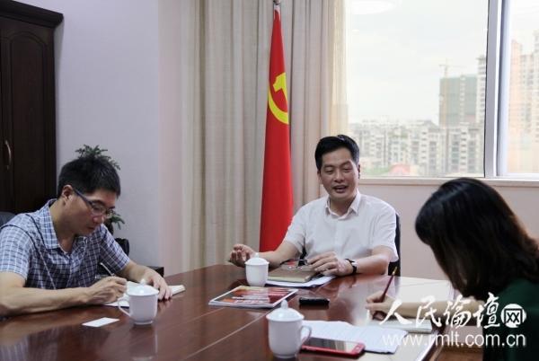 晋安区委书记刘卓群接受人民论坛专访