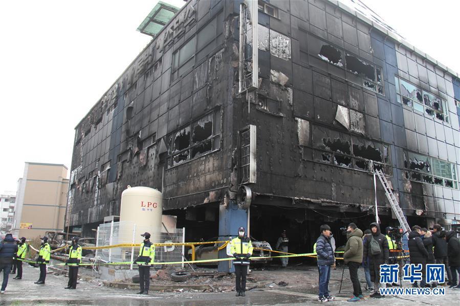(国际)(1)韩国堤川市运动中心火灾死亡人数升至29人