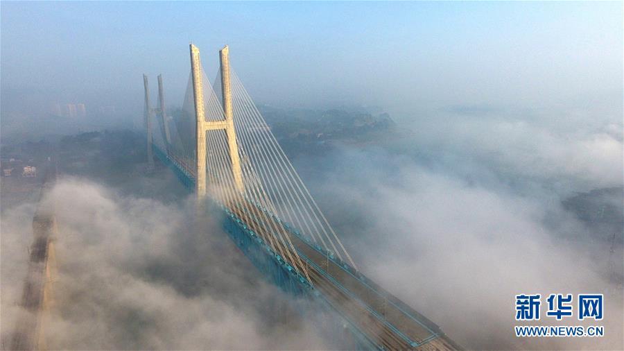 (经济)(2)世界首座双层六线钢桁梁铁路斜拉桥在渝落成