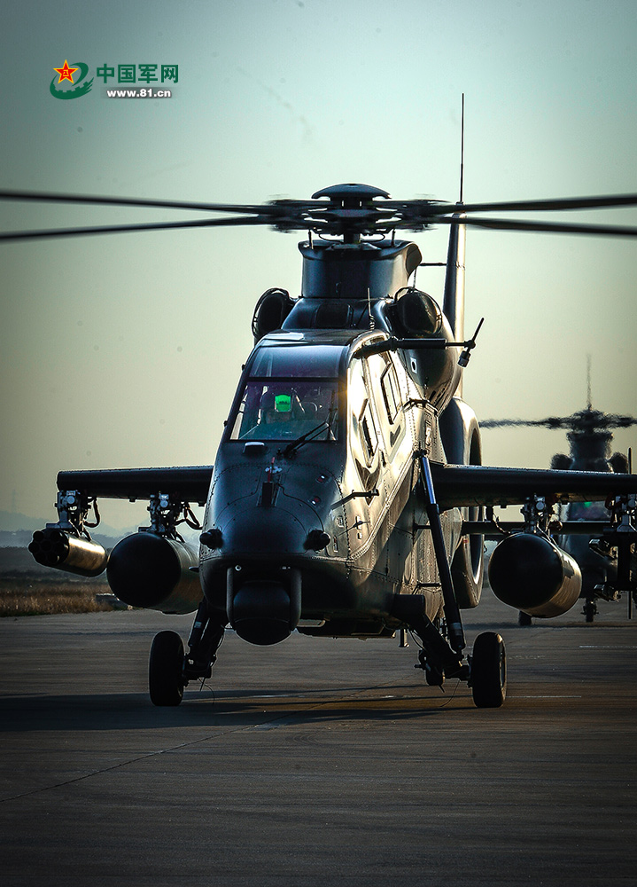 陆航旅武装直升机超低空突击飞行训练【2】